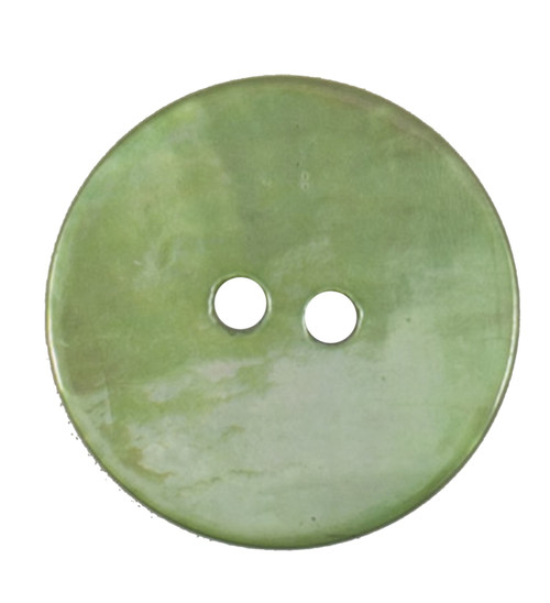 Lime Green Mother of Pearl Shell 17mm 2-hole Buttons on Card (Code E) x 3pc