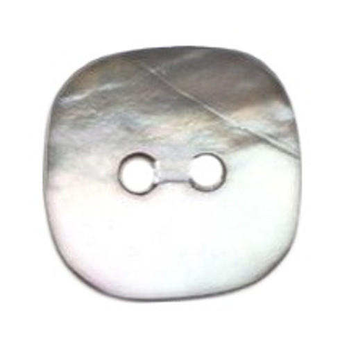 Natural Mother of Pearl Shell Square 15mm 2-hole Buttons on Card (Code D) x 3pc