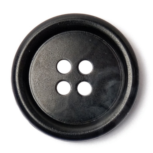 Black 20mm 4-hole Buttons on Card (Code C) x 3pc