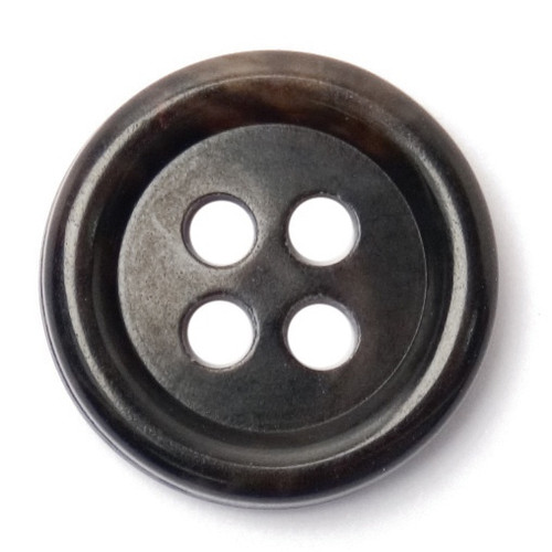 Black 15mm 4-hole Buttons on Card (Code C) x 5pc