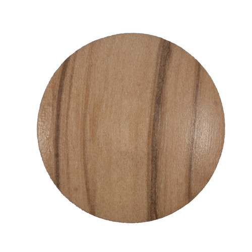 Natural Wood 25mm Shank Buttons on Card (Code C) x 2pc