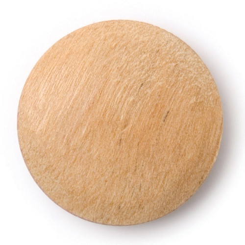 Natural Wood 17mm Shank Buttons on Card (Code C) x 4pc