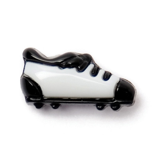 Black & White Football Boot Shape 15mm Shank Buttons on Card (Code C) x 3pc