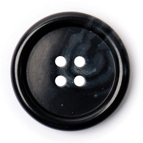 Black & Charcoal Grey Watermark 27mm 4-hole Buttons on Card (Code C) x 2pc