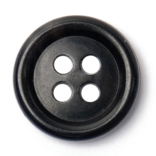 Black & Charcoal Grey Watermark 15mm 4-hole Buttons on Card (Code C) x 5pc