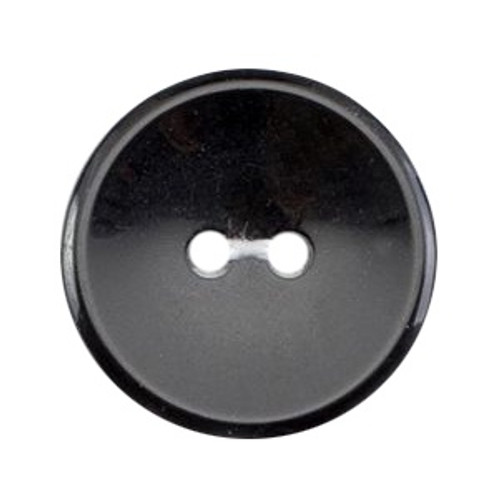 Black 19mm 2-hole Buttons on Card (Code B) x 5pc