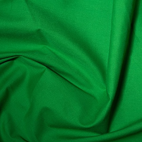 Emerald Green Plain Polycotton Fabric, 44in wide, Sold Per HALF Metre