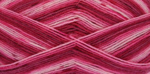 Strawberry Zig Zag 4 Ply Sock Wool (100g)