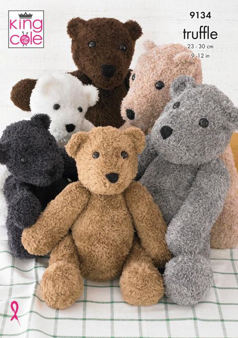 9134 Toy Teddy Bear DK Knitting Pattern