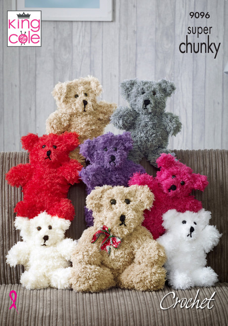 9096 Toy Joseph the Bear Tufty Super Chunky Crochet Pattern