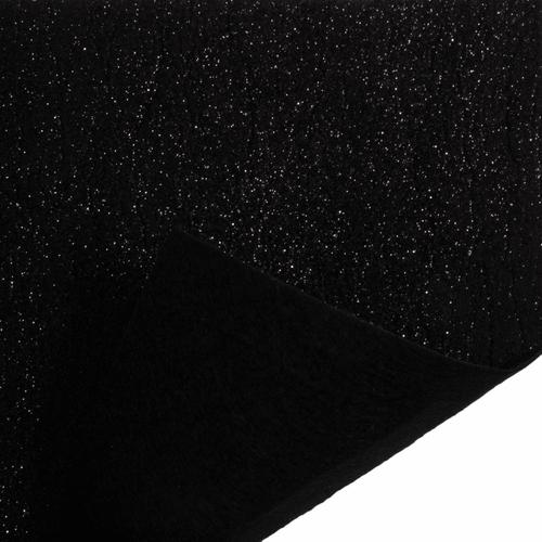 Black Glitter Felt Sheet (23cm x 30cm)