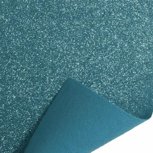 Light Blue Glitter Felt Sheet (23cm x 30cm)