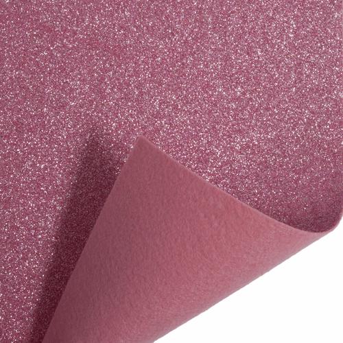 Light Pink Glitter Felt Sheet (23cm x 30cm)
