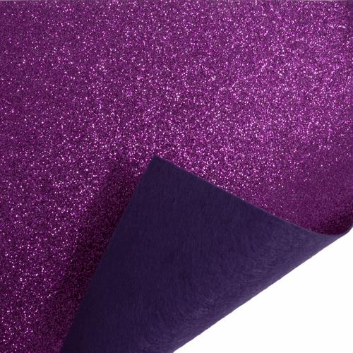 Magenta Glitter Felt Sheet (23cm x 30cm)
