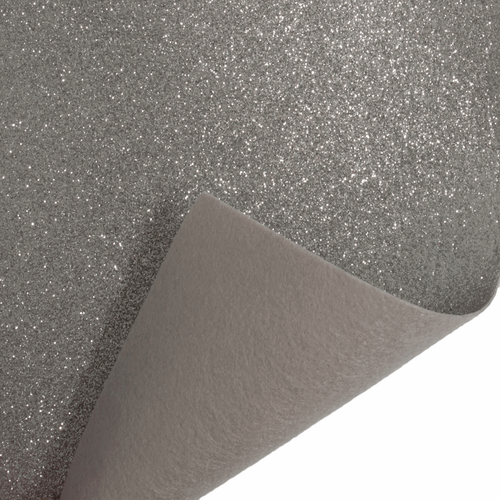 Silver Glitter Felt Sheet (23cm x 30cm)