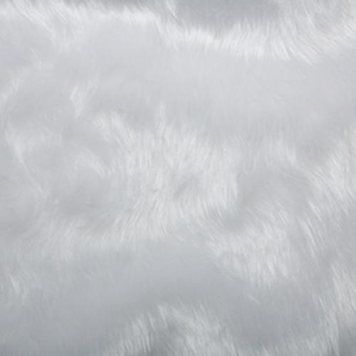 White Faux Fur Fabric, 137cm wide, Sold Per HALF Metre