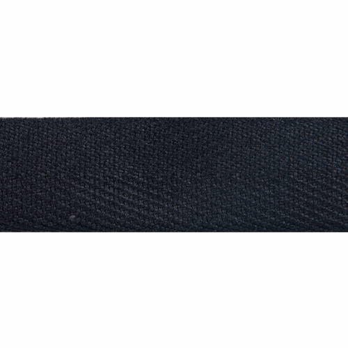 Black 100% Cotton Herringbone Webbing, 20mm wide, Sold Per Metre