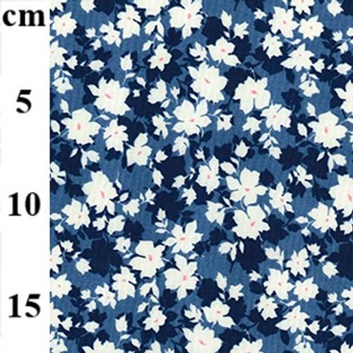 Copen Floral 100% Cotton Poplin Fabric, 110cm/43in wide, Sold Per HALF Metre