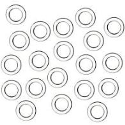 Austrian Blind Clear Plastic Rings 10mm Diameter, Sold Individually