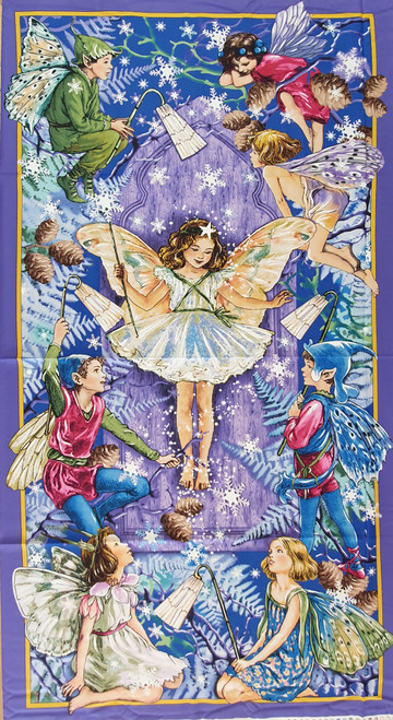 Enchanted Fairy Flower Fairies Quilting Panel