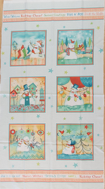 Warm Wishes Toys & Joys Christmas Quilting Panel