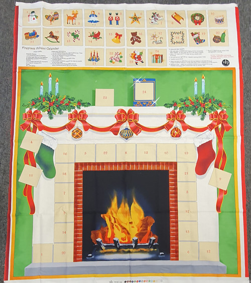 Christmas Fireplace Advent Calendar Panel