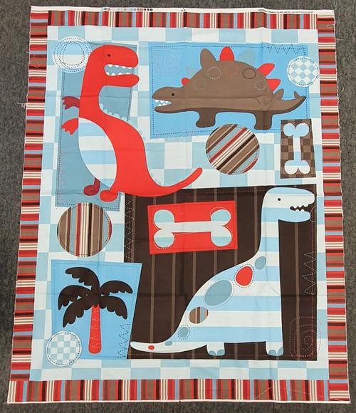 Dinosaur Quilting Panel