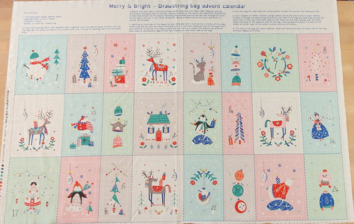 Merry & Bright Drawstring Bag Advent Calendar Panel