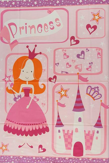 Princess Pink Quilting Panel