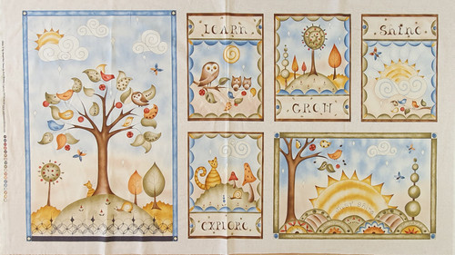 Shine Grow Learn Explore Quilting Panel (6 blocks)
