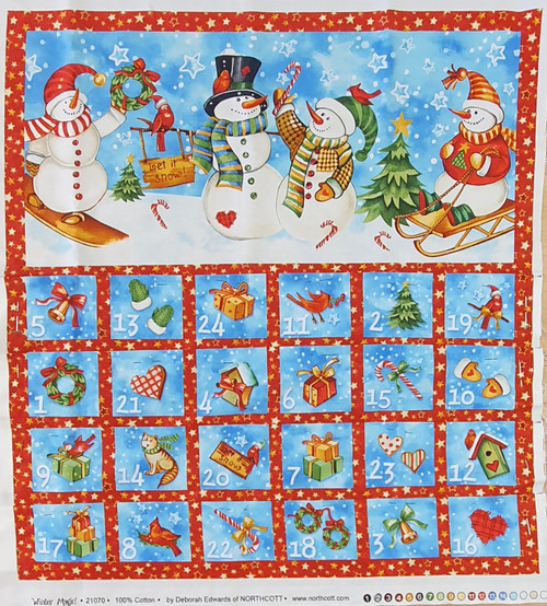 Winter Magic Christmas Advent Calendar Panel