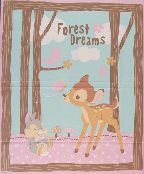 Woodland Dreams Bambi & Thumper Disney Quilting Panel
