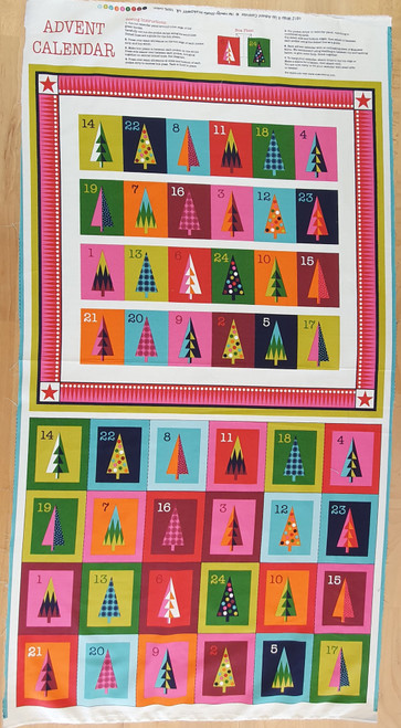 Wrap It Up Colourful Christmas Advent Calendar Panel