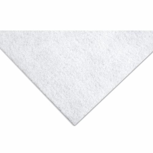 Silver Glitter on White Felt Sheet (23cm x 30cm)