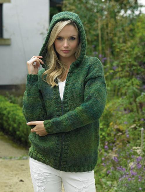 "JB425 Ladies & Teens Cardigan Marble Chunky Knitting Pattern Size: 28/30"" - 44/46"""