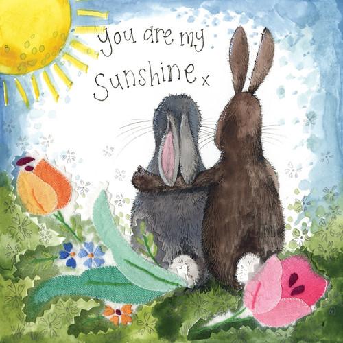 You Are My Sunshine Rabbit Card