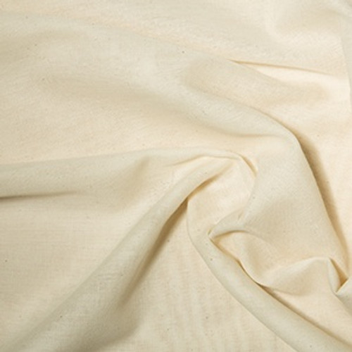 Unbleached 100% Cotton Muslin, 90cm wide (36in), Sold Per Metre
