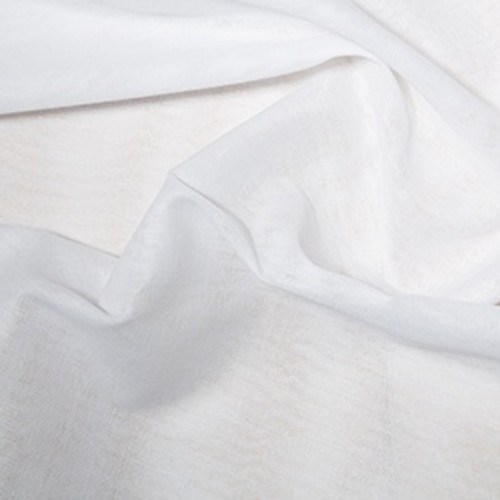Bleached White 100% Cotton Muslin, 90cm wide (36in), Sold Per Metre