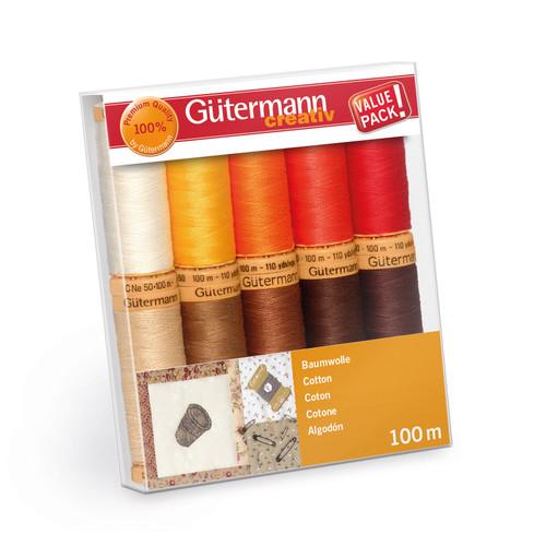 Thread Set: Natural Cotton C. No.50: 10 x 100m: Colour Assortment 4