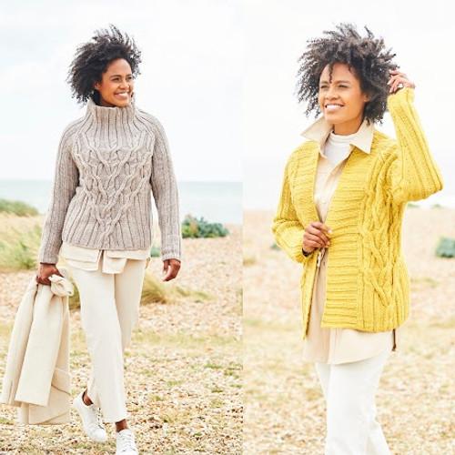 9814 Ladies Jacket & Sweater Softie Chunky Knitting Pattern