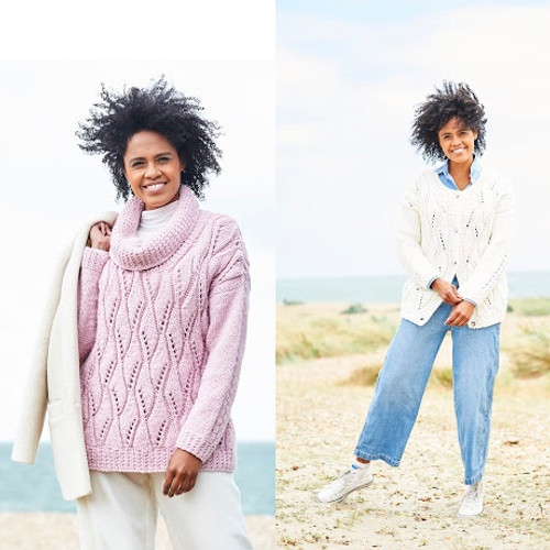 9816 Ladies Sweater & Cardigan Softie Chunky Knitting Pattern