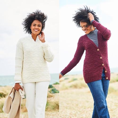 9817 Ladies Sweater & Cardigan Softie Chunky Knitting Pattern