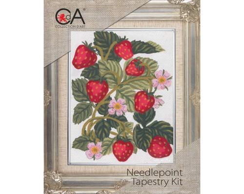 Strawberries Needlepoint Tapestry Kit