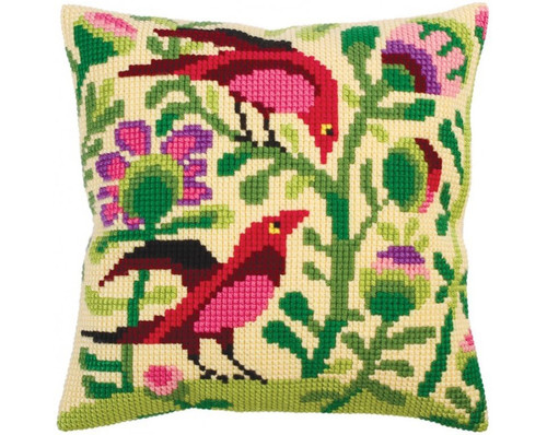 Birds of Paradise (Left) Cross Stitch Cushion Kit