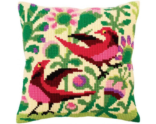 Birds of Paradise (Right) Cross Stitch Cushion Kit