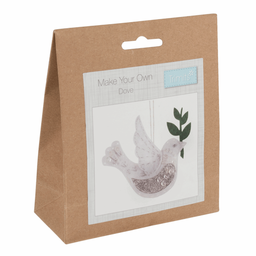White Peace Dove Felt Decoration Kit