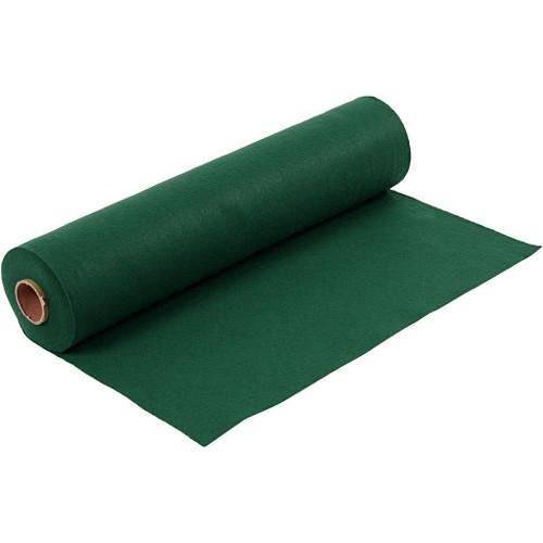 Holly Green Acrylic Felt Roll, 45cm wide x 1mtr length