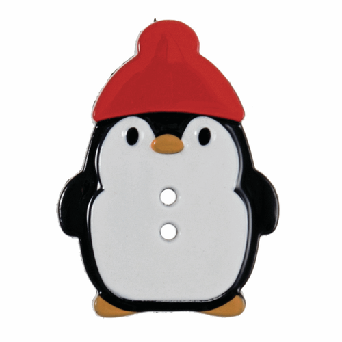 Penguin Novelty Christmas Buttons, Sold Individually