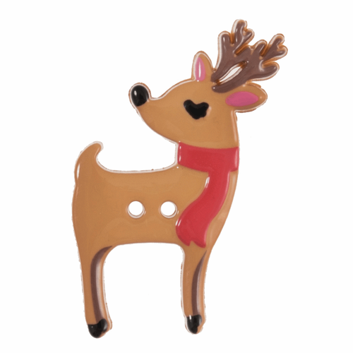 Reindeer Novelty Christmas Buttons, Sold Individually