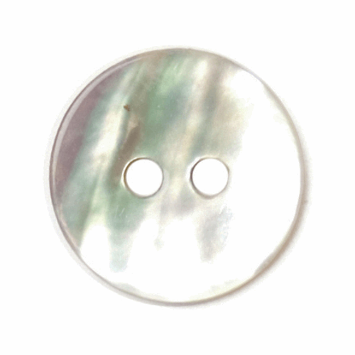 Natural White Round Mother of Pearl Buttons, 11mm, Sold Individually